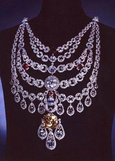 The Maharajah of Patiala's magnificent Cartier necklace made from stones taken from antique jewels that he brought to cartier to be reworked.