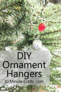 DIY Ornament Hangers on 30 Minute Crafts. I'll probably just buy some after Christmas, but good to know I could make them if I wanted to. Beaded Christmas Ornaments, Christmas Decorations, Diy Ornaments, Yule Decorations, Christmas Love, Christmas Holidays, Homemade Christmas, Merry Christmas, Diy Jewelry Hanger
