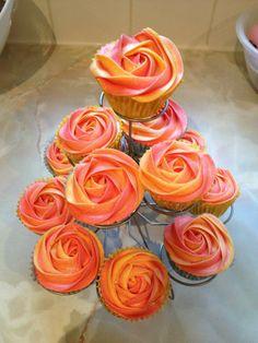 Firecracker Rose Cupcakes