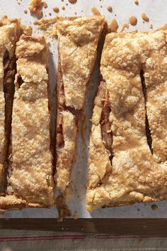 Old-Fashioned Apple Slab Recipe  Loved the pie crust in this and will use it in other recipes.  Skipped the buttermilk powder and it was still delicious.