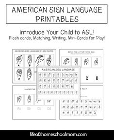 American Sign Language Study Pack {ASL} - Life of a Homeschool Mom Sign Language Letters, Sign Language Games, Handwriting Practice Worksheets, Kids Planner, Language Study, Spanish Language, French Language, Language Arts, Asl Signs