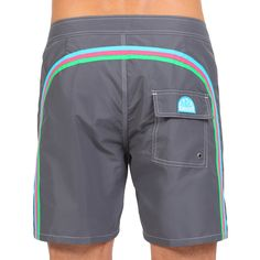 LONG SWIM SHORTS WITH RAINBOW BANDS COLOR MIDNIGHT 6 (M503BDTA100-189) | Man Sundek