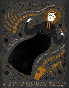 Mary Anning. Aunque fue discriminada por su género y por su clase social, a Mary Anning no le daba ningún miedo escalar cualquier acantilado. Tampoco se atemorizaba con los continuos deslizamientos de tierra con tal de buscar coprolitos, fósiles de peces y esqueletos de dinosaurios.