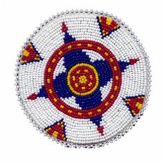 Native American Beadwork Rosette Patterns | KQ Designs - Native American Beadwork, Powwow Regalia, and Beaded ...