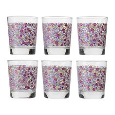 Godis mix glasses with flowers form ikea Cute Glasses, Catalogue Ikea, Kitchen Utensils, Deco, Coffee Mugs, Dishes, House Styles, Tableware, Bowls