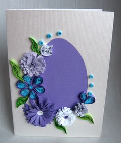 Quilling M handmade crafts and hobbies: Quilling Easter Cards - Felicitari d. - Quilling M handmade crafts and hobbies: Quilling Easter Cards – Felicitari de Paste - Diy Easter Cards, Easter Crafts, Handmade Easter Cards, Paper Quilling Patterns, Quilling Cards, Handmade Greetings, Greeting Cards Handmade, Envelopes Decorados, Flower Cards