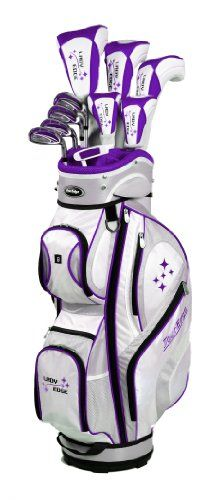 Best Golf Bags | Tour Edge Womens 2014 Lady Edge Golf Full Set Ladies Flex Right Hand Graphite Plum 1Inch * Click image for more details.(It is Amazon affiliate link) #likeforlike
