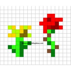 Minecraft Pixel Art Templates Minecraft flowers - Polyvore