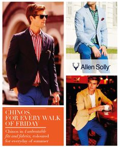 Experience the shades of Summer with #AllenSolly Chinos.