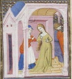 Giovanni Boccaccio, De Claris mulieribus; Paris Bibliothèque nationale de France MSS Français 598; French; 1403, 123v. http://www.europeanaregia.eu/en/manuscripts/paris-bibliotheque-nationale-france-mss-francais-598/en