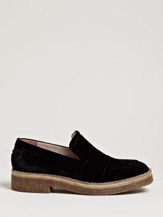 Dries Van Noten Women's Patterned Velvet Loafer Shoes