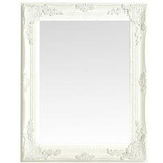 SPEGEL Shabby Chic White 47 x 37 cm