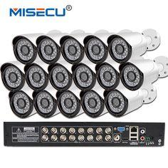 New plug and play 16ch AHD 960P HDMI 1080P 16pc 1280*960 outdoor IR camera 1.3mp AHD kit AHD-M DVR NVR video Recorder security