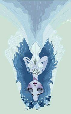 The beautiful Corpse Bride! Art by Anoosha Syed on behance Tim Burton Stil, Tim Burton Kunst, Film Tim Burton, Tim Burton Art Style, Tim Burton Artwork, Corpse Bride Art, Tim Burton Corpse Bride, Arte Obscura, Dark Art Drawings