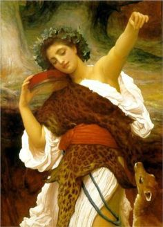 Frederic Leighton (British: 1830 - 1896) - Bacchante (1895)