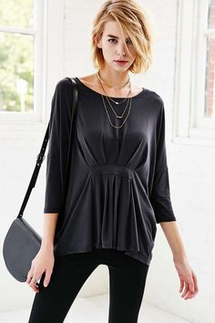 Silence + Noise Asher Belted Top - Urban Outfitters