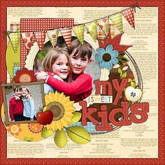 This is a cute scrapbook page layout