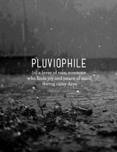 The sound of raindrops falling is medicine for my soul. <3