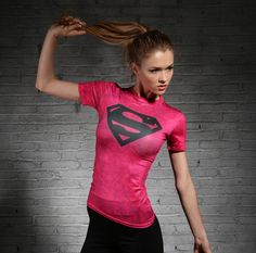 Superman Compression Shirts For Women