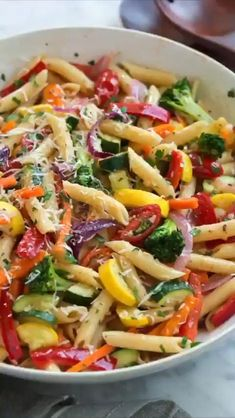 Vegan Dinners, Healthy Dinner Recipes, Cooking Recipes, Cooking Pasta, Pasta Food, Summer Vegetarian Recipes, Penne Pasta Salads, Healthy Dinners For Two, Pasta Lunch