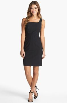this sleeveless black sheath dress with beautiful pintucking front details is a work wardrobe staple {40% now during Nordstrom's Half Yearly Sale!!}