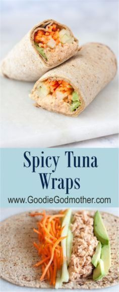 Quick and Easy Healthy Dinner Recipes - Spicy Tuna Wraps- Awesome Recipes For Weight Loss - Great Receipes For One, For Two or For Family Gatherings - Quick Recipes for When You're On A Budget - Chicken and Zucchini Dishes Under 500 Calories - Quick Low Carb Dinners With Beef or Shrimp or Even Vegetarian - Amazing Dishes For Picky Eaters - https://thegoddess.com/easy-healthy-dinner-receipes #dietmealplansforpickyeaters
