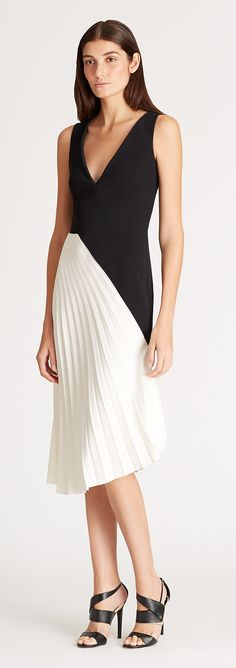 Sometimes its good to see something simply in black and white like this  #RolandMouret dress #SaksStyle