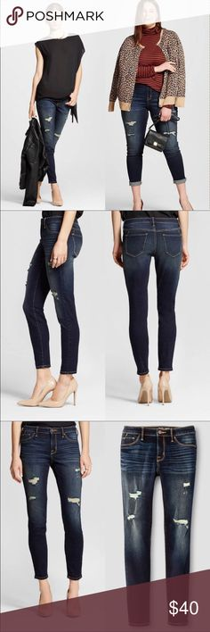 Gorgeous Mid-rise Jegging Dark Wash Size 14 ✨ BNWOT Women's Mid-Rise Jegging in Dark Destructed Wash, feature a super-slim fit and an easy mid-rise waist. The jeans are crafted with specially formulated LYCRA® XTRA LIFE™ stretch technology that keeps its shape through multiple washes and wears. ⠀⠀⠀⠀⠀⠀⠀⠀⠀⠀⠀⠀⠀⠀⠀⠀⠀⠀⠀⠀⠀⠀⠀⠀⠀⠀⠀⠀⠀⠀⠀⠀⠀⠀Material: 93% Cotton, 6% Polyester, 1% ⠀⠀⠀⠀⠀⠀⠀⠀⠀⠀⠀⠀Spandex ⠀⠀⠀⠀⠀⠀⠀⠀⠀⠀⠀⠀⠀⠀⠀⠀⠀            ⠀⠀⠀⠀⠀ ⠀⠀⠀⠀⠀🚫 No Trades 📦 Fast Shipping ⠀⠀⠀⠀⠀🌻 Smoke pet free clean home ⠀⠀⠀…