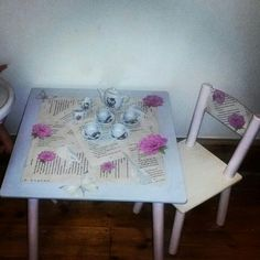 Upcycled table and chair