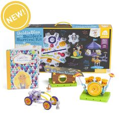 GoldieBlox and the Builder's Survival Kit is the ultimate expansion pack for the most adventurous innovator!