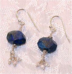 Lapis Lazuli Earrings by graceandcompany1 on Etsy, $36.00
