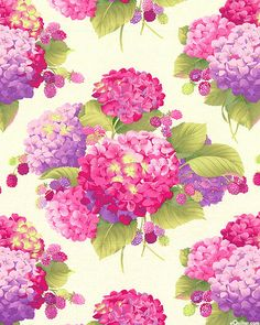 Sausalito Cottage - Hydrangeas & Berries - Rose Pink/Pearl