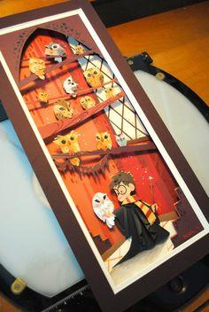Harry Potter Paper Art by Brittney Lee