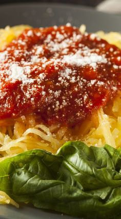 Weight Watchers Friendly Baked Spaghetti Squash Lasagna Style Recipe - 10 Smart Points