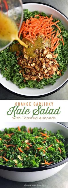 Easy Garlicky Orange Kale Salad Recipe