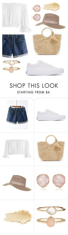 """Simple & Chic"" by mynameissari ❤ liked on Polyvore featuring Vans, Sans Souci, Hat Attack, Topshop, Monica Vinader and Accessorize"
