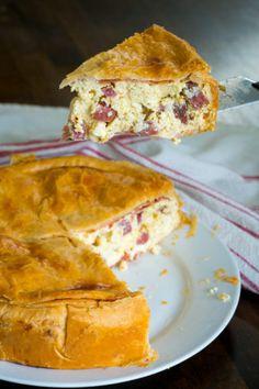 Easter Dinner Recipes, Easter Brunch, Dessert Recipes, Pie Recipes, Italian Easter Pie, Breakfast Pie, Breakfast Recipes, Easter Dishes, Cooking Panda