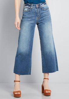 0a876a5527 Opt for Cropped Wide-Leg Jeans in 1 - Wide Denim Pant Cropped Wide Leg
