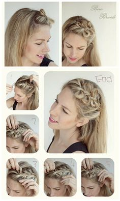 This is a very cute bow braids hair style for long hair tutorial. There are 5 DIY Hair Bow Ideas and Creations Collection in this article which concludes Side Hair Bow, Braided Hair Bow, Bow Tail, Bow Bun and Colored Hair Bow. You can also find the easier way to make a hair bow there.