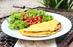 Receita omelete de banana e queijo parmesão