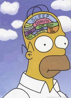 Billedresultat for homer simpson poster brain The Simpsons, Simpsons Funny, Simpsons Quotes, Homer Simpson Brain, Lisa Simpson, Homer Simpson Quotes, Simpson Tumblr, Los Simsons, Too Funny