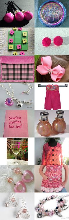Think Pink by Melissa And Wendy on Etsy--Pinned with TreasuryPin.com