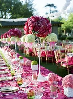 Garden Wedding Table Settings