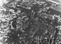 Po 1945, Zgorzelec (Gorlitz), Polska.  Panorama miasta z lotu ptaka.  Fot. NN, z dziennika dr Franciszka Scholza, udostępniła Elżbieta Buława.