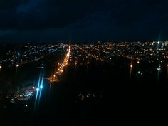 Noche de Tandil, desde el castillo Morisco.