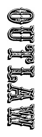 Western Outlaw Tattoo OUTLAW SCRIPT L...
