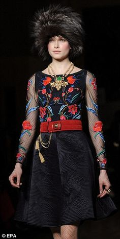 The fashion fan made it to her third show in two days on Saturday, appearing front row at the Temperley London Autumn/Winter 2012 presentation in St James. Russian Fashion, Russian Style, Russian Folk, Peaches Geldof, Imperial Fashion, Ukraine Girls, Alice Temperley, Beautiful Outfits, Beautiful Clothes