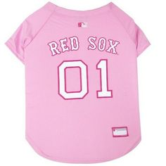 67e20b041 Boston Red Sox PINK Pet Jersey MLB clothes for Dog   Cat Size LG CLEARANCE