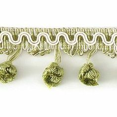 "DECORATIVE TRIM 2 1/2"" BALL FRINGE CCR 92124 - Green - Shop by Color - Trimmings - Calico Corners"