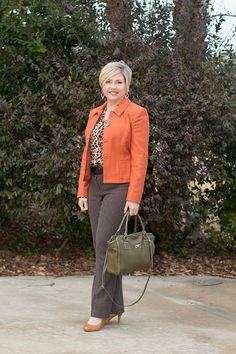 Rust and leopard for the office  #ShopStyle #shopthelook #MyShopStyle #WearToWork #OOTD